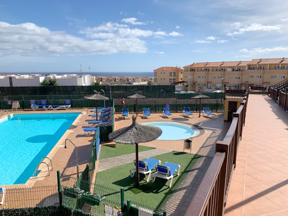 view to communal pool