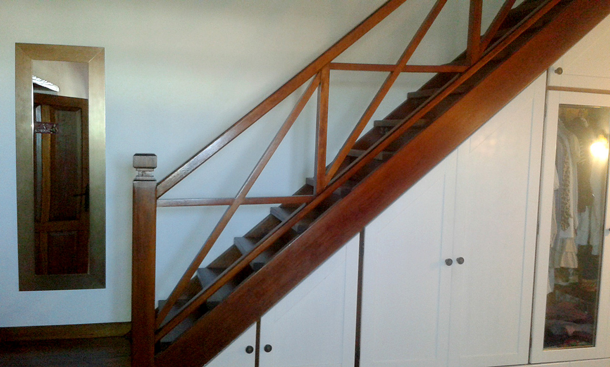 wooden stairs