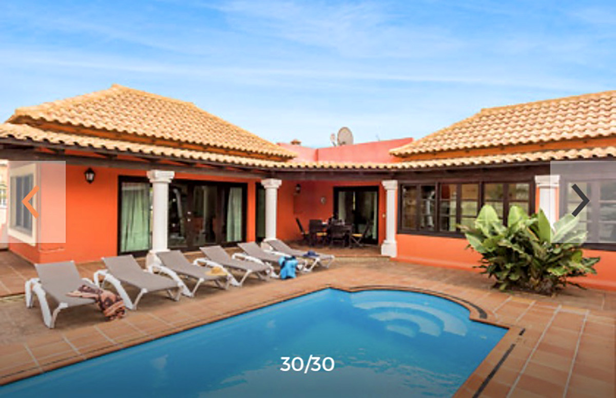 pool, house and terraces