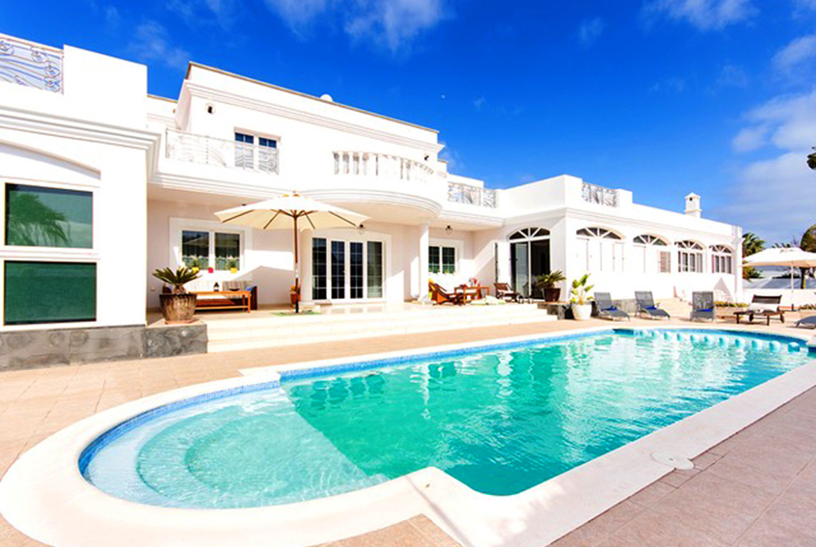swimming pool and house