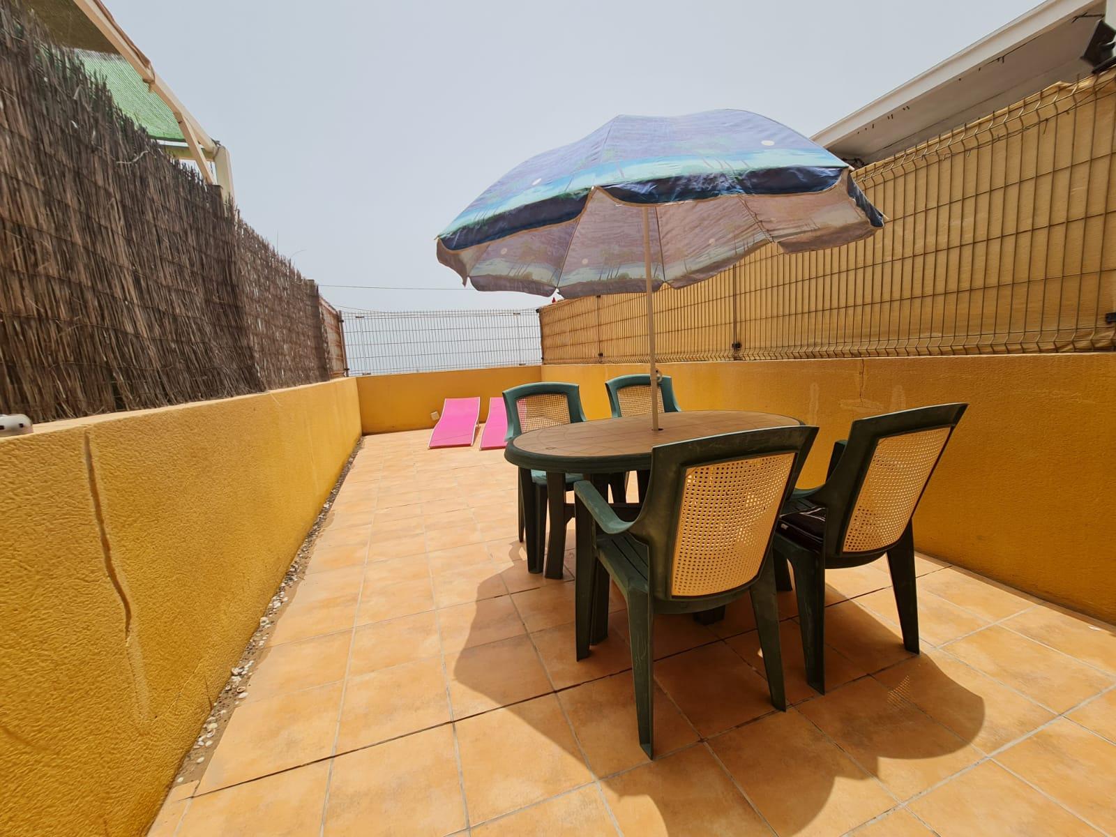 sun terrace and views