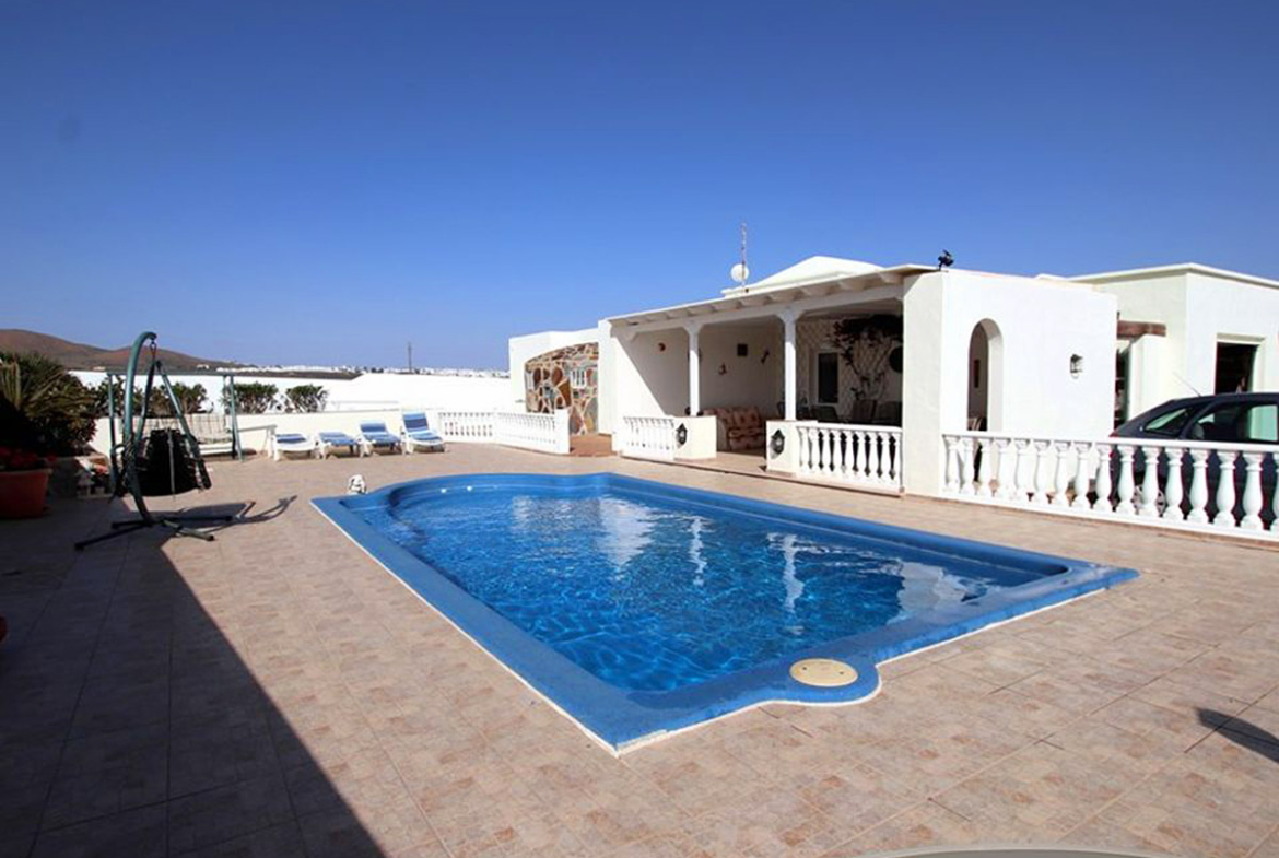 private pool and terraces